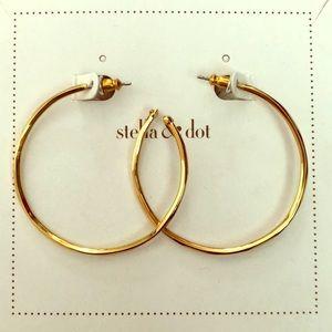 Stella & Dot Gold Hoops